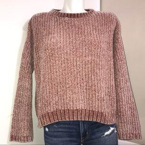 Primark Rose Chunky Silky Knit Crewneck Sweater